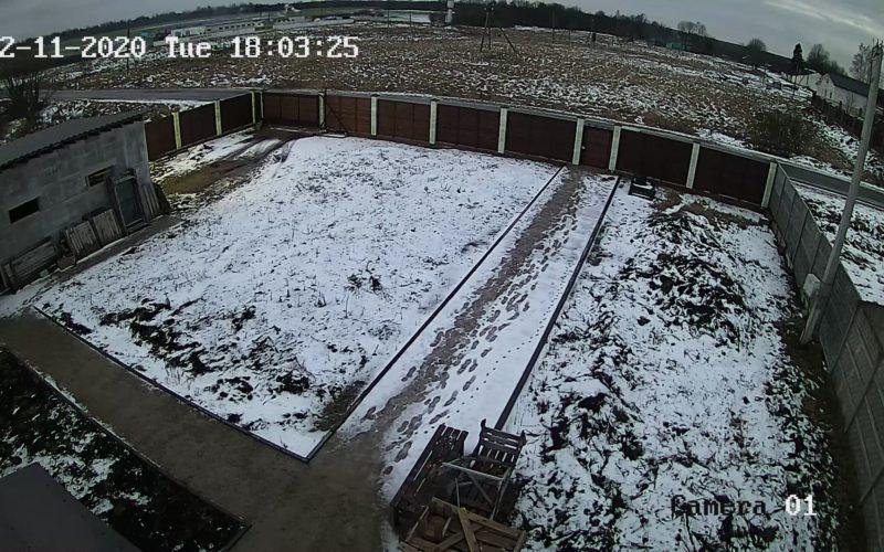 Снимок с камеры видеонаблюдения для частного дома