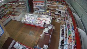 съемка камеры видеонаблюдения в магазине