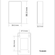 Кнопка выхода TS-Magic(black&white) размеры